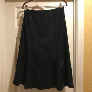 detailed long black skirt